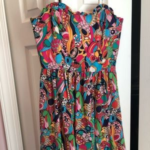 Lilly Pulitzer strapless dress size 2